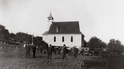 Historic photo of Peace Lutheran Church from 1924